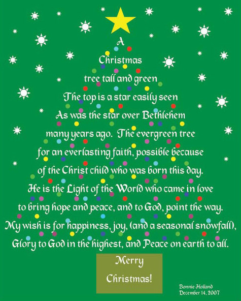 Poem About A Christmas Tree: Yak Attack